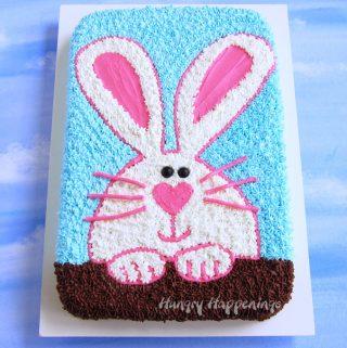 Easter Bunny Sheet Cake Recipe image