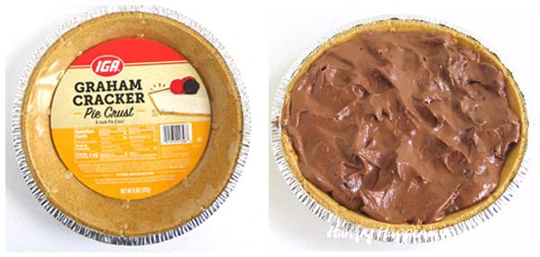 IGA Graham Cracker Pie Crust and chocolate banana ice cream pie