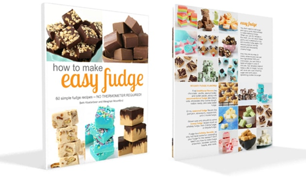 How to Make Easy Fudge book - front and back covers.