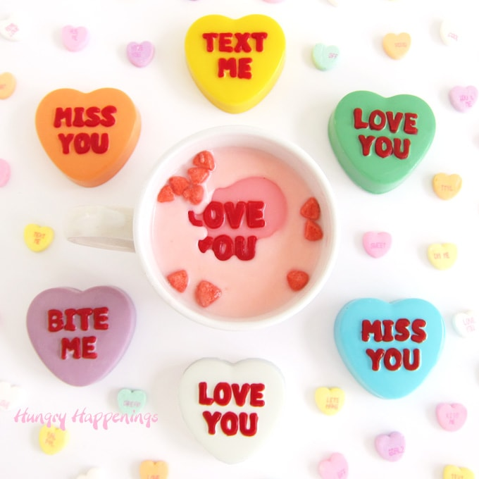 Conversation Heart Hot Chocolate Bombs Recipe image