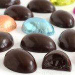 Chocolate truffle eggs are filled with decadently rich and luxuriously creamy chocolate ganache.