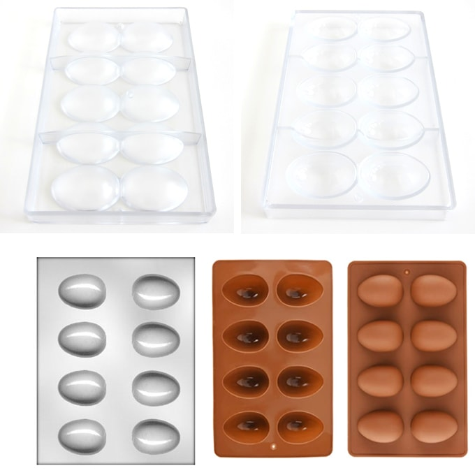 polycarbonate Egg mold, plastic egg mold, silicone egg mold