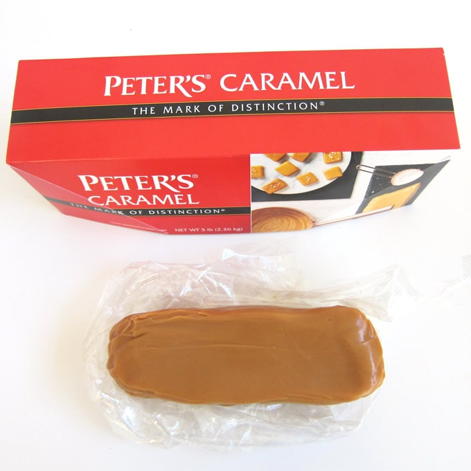 Peter's Caramel comes in a 5 pound loaf and is soft and chewy.