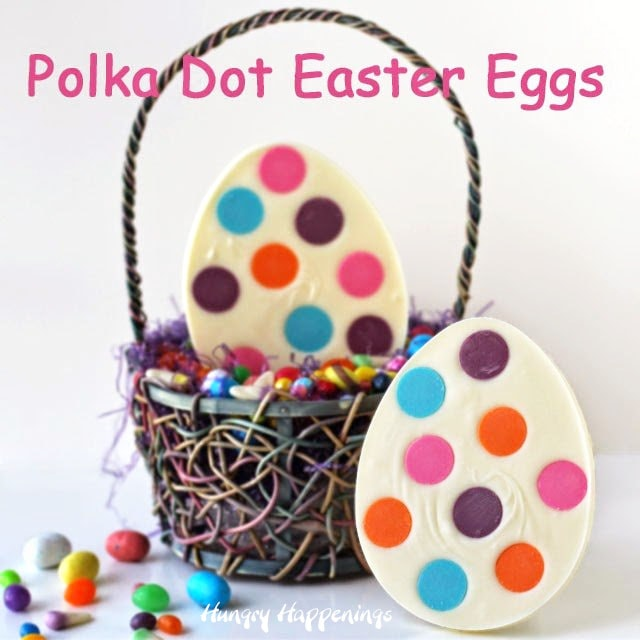White Chocolate Polka Dot Easter Eggs