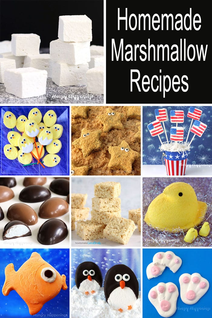 Use this homemade marshmallow recipe to make homemade Peeps, marshmallow eggs, starfish s'mores, marshmallow flags, rice krispie treats, and more.