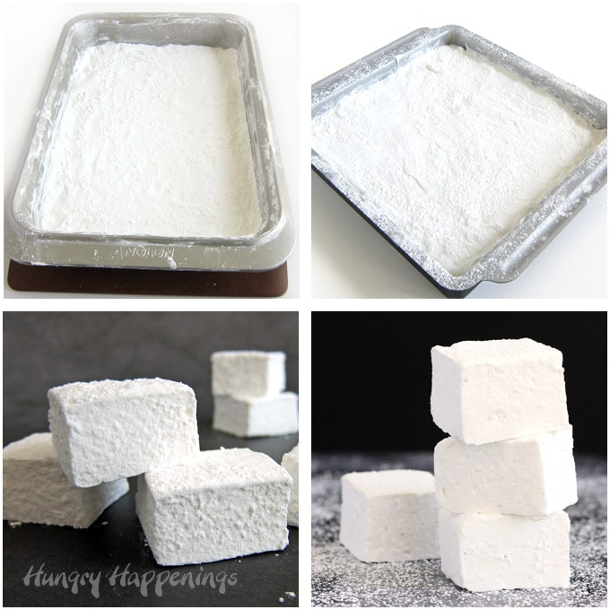 Make thin marshmallows in a 9X13-inch pan or thick marshmallows in a 9-inch square pan.
