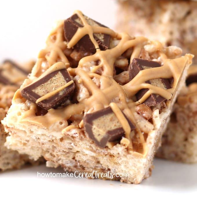 Reese's Peanut Butter Cup Rice Krispie Treats
