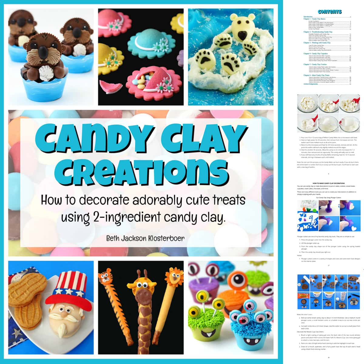Candy Clay Creations Cookbook featuring modeling chocolate recipes and decorating tips