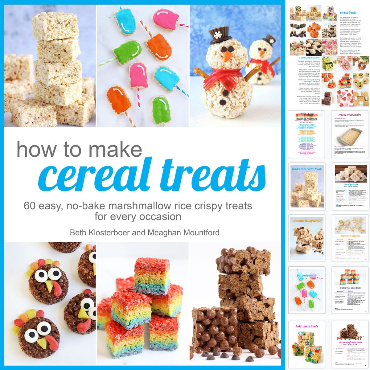 How To Make Cereal Treats Cookbook featuring 60 rice crispy treat recipes